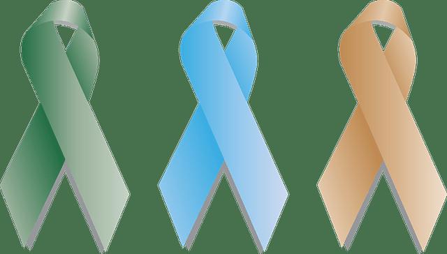 Différents rubans qui distinguent les différents type de cancer.