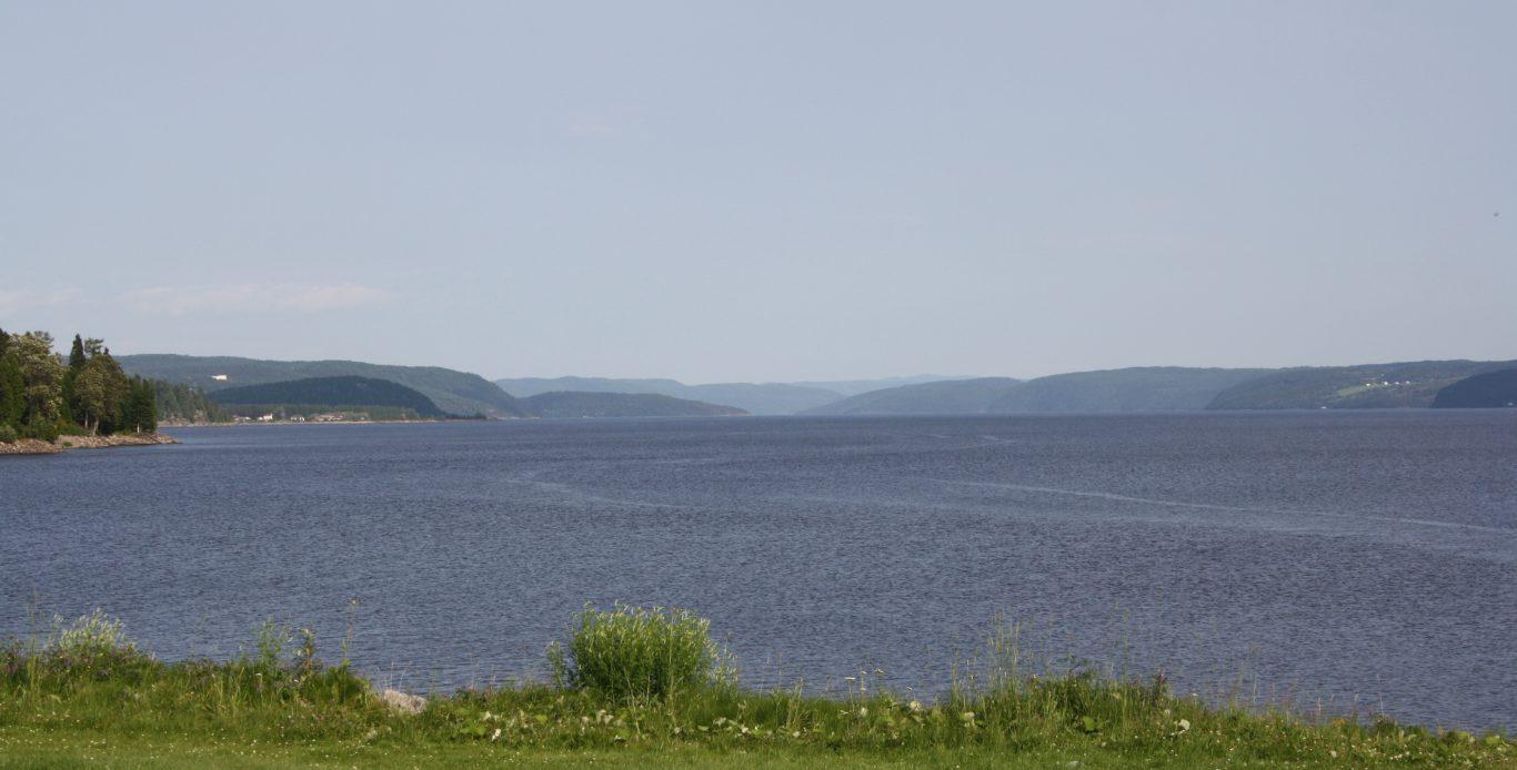 Saguenay - rivière vue de Chicoutimi